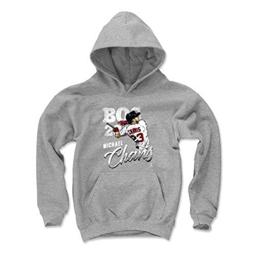 500 LEVEL Michael Chavis Boston Baseball Youth Sweatshirt (Kids Large, Gray) - Michael Chavis Team W WHT