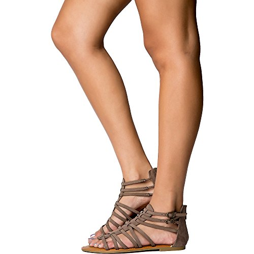 Bamboo Womens Seashore-84V Sandal Sandal Taupe bWdl1