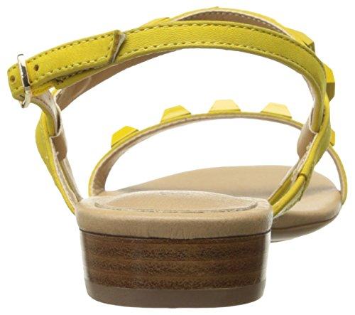 VANELi Women's Bodicea Flat Sandal Yellow Soft Nabuk/Mtch Studs/Gold Buckle ElG7izY