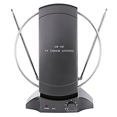 Dtemple High Gain Indoor TV Antenna 50 Mile Range, HDTV DTV HD VHF/UHF FM