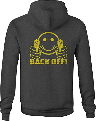 il Smiley Face Hooded Sweatshirt for Men - 2XL Gray ()