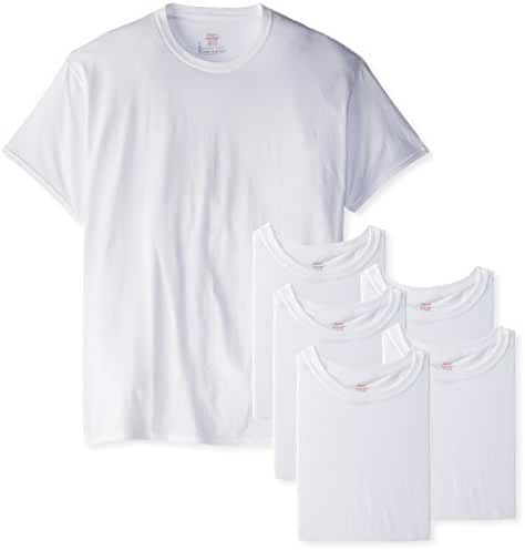 Hanes Men's FreshIQ Crew T-Shirt (6 Pack and 12 Pack)