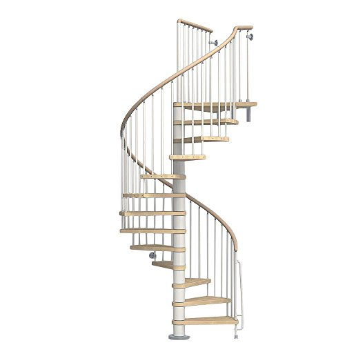 wood spiral staircase kit - 7