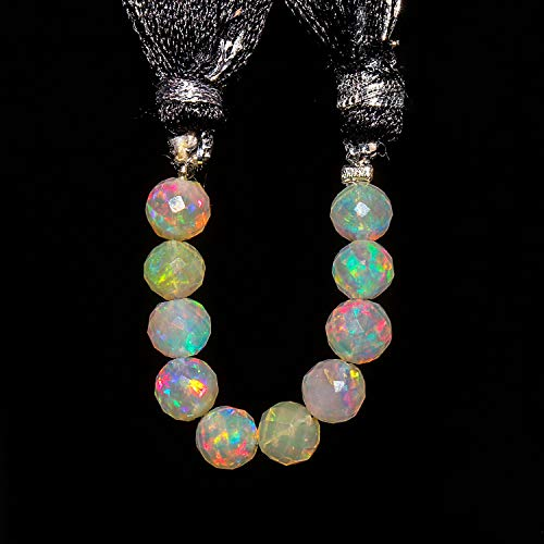 Jaguar Gems AAA Natural Ethiopian Welo Opal Stone Round Beads, Beads for Jewelry Making Project, Beads for DIY-Crafts, Loose Gemstones, Fire Play Round Balls, Handcrafted Mini Mala Strand (5mm)
