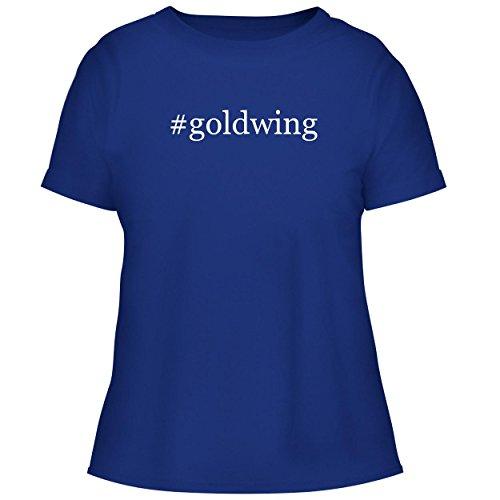 BH Cool Designs #Goldwing - Cute Women's Graphic Tee, Blue, Medium -