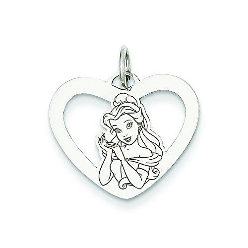 Heart Charm Belle (Sterling Silver Disney Belle Heart Charm)
