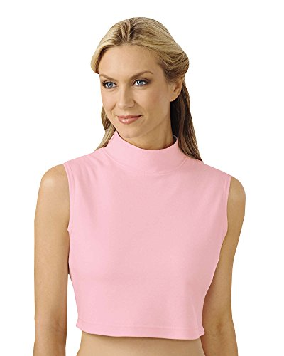 Dickey Turtleneck Mock - UltraSofts Mock Neck Dickey, Light Pink, Large/Extra Large