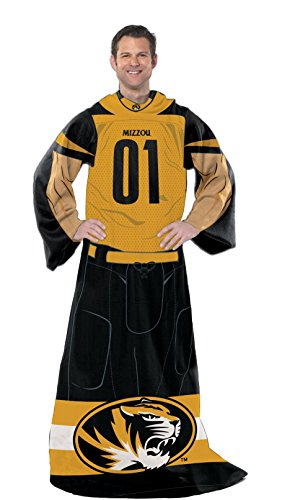 NCAA Missouri Tigers Full Body Player Adult Comfy Throw, 48