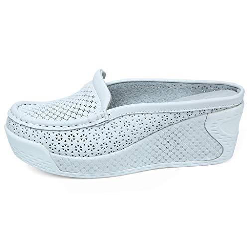 ✨Loosebee Women'S Comfortable Platform Shoes Hollow Wedge Shoes Casual Single