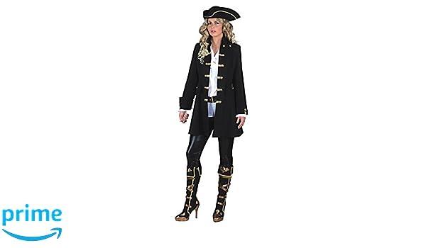 e975221aa Las mujeres pirata Escudo de Luxe Ta. 52 Abrigo de la mujer traje negro Lake  Raiders levita  Amazon.es  Juguetes y juegos