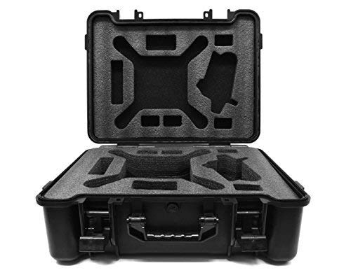 LF inc. Durable Hard Case Phantom Drone with Custom Cut Outs for Drone and Accessories