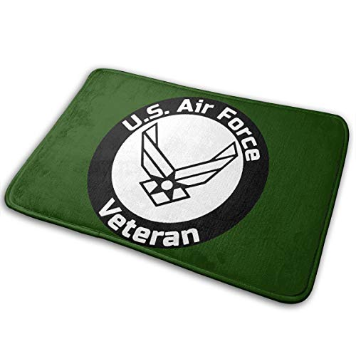 (FJHIED78 VJID77 US Air Force Veteran Doormat Entrance Mat Floor Mat Rug Indoor/Outdoor/Front Door/Bathroom Mats Rubber Non Slip )