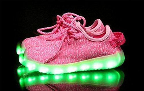 Scarpe Alla Moda Da Bambina Alla Moda Con Il Logo Light Up Caricabatterie Usb Sneaker Fashion Sneaker Slip-on Scarpe Sportive Per Bambini Rosa