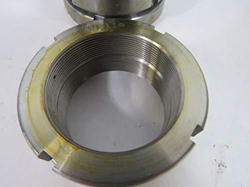 Not Self-Locking Standard NHE-11, Rose TN-11 Replaces Generic TAN-11 Whittet-Higgins NH-11 Heavy Duty Threaded Shaft /& Bearing Locknut UNS 2.157-18 Right-Hand Thread