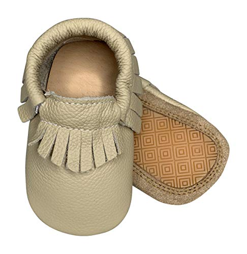 Bottoms Adult Baby (Lucky Love Baby Hard Sole Toddler Moccasins Shoes Size 12-18 Months)