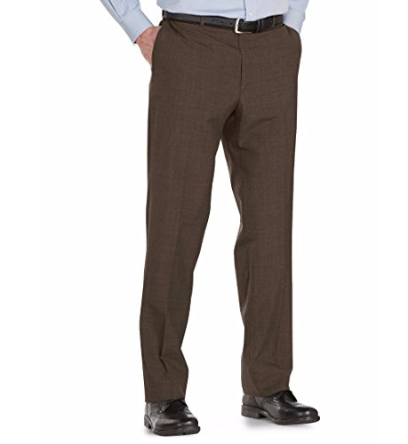Austin Reed Self Sizer Wool Blend Flat Front Dress Pant (34W x Unfinished, ()