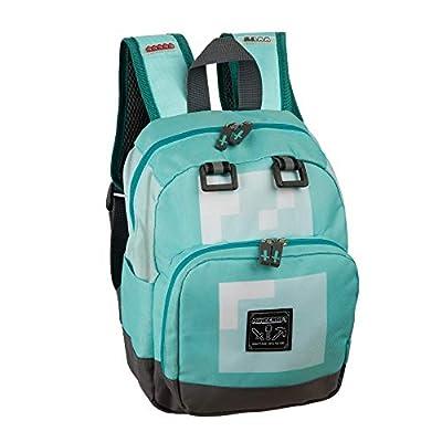 JINX Minecraft Diamond Kids Mini Backpack, Blue, 12