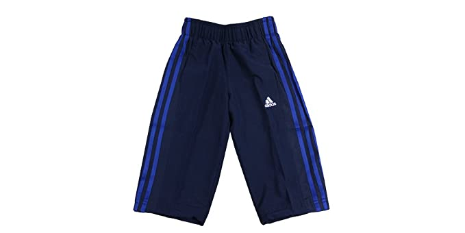 bdabf0766 Adidas Performance Essential 3 Stripes 3/4 Boys Woven Pants S23295 (UK 7/8  Years): Amazon.co.uk: Clothing