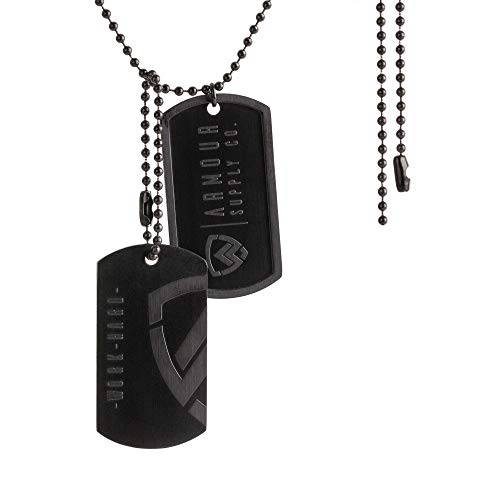 Armour Supply Co. Military Dog Tags for Men - Stainless Steel Dogtag Army Tactical Necklace Chain