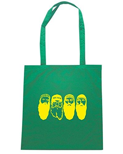 T-Shirtshock - Bolsa para la compra FUN1285 duck dynasty die cut vinyl decal car sticker 07 69615 Verde