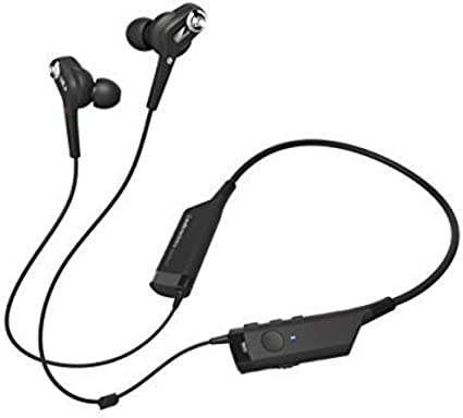 Amazon Com Audio Technica Ath Anc40bt Quietpoint Active Noise Cancelling Bluetooth Wireless In Ear Headphones With In Line Mic Control Audio Technica Home Audio Theater