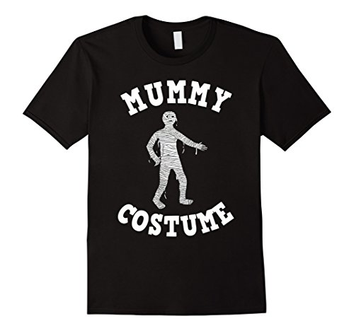 Adult Mummy Halloween Costumes (Mens Easy Halloween Costume Mummy Tshirt Adults & Kids Tees Large Black)