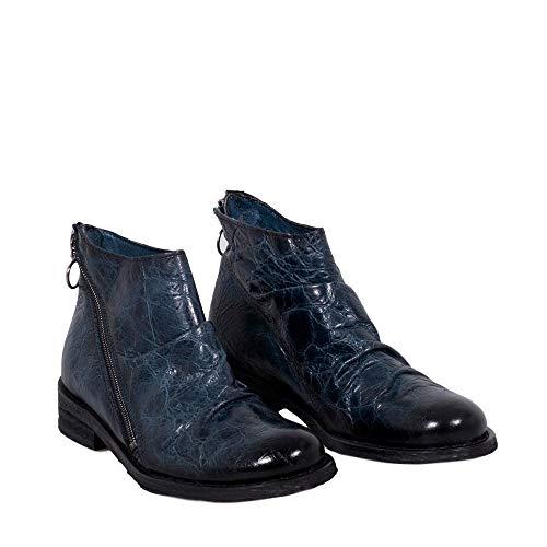 Felmini Gredo Chaussures Bottines avec Bleu Tomber Bleu Femme à B557 en Véritable Cuir Fermeture éclair Amour rxHwUrqY