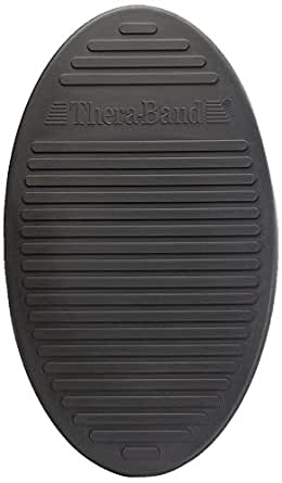 TheraBand Stability Trainer Pad, Advanced Level Black Inflatable Pad, Balance Trainer & Wobble Cushion for Balance & Core Strengthening, Rehabilitation, & Physical Therapy, Round Sport Balance Trainer