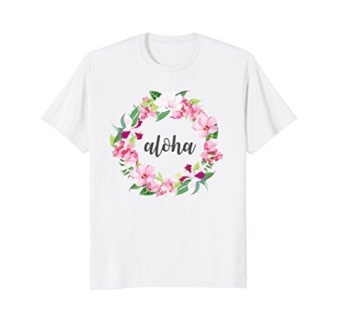 Hawaiian Aloha Flower Haku Lei Plumeria T-Shirt