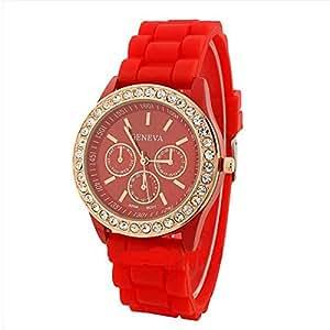 Geneva Bling Bling Fashion style Watch for women/Girls casual Watch - Blue