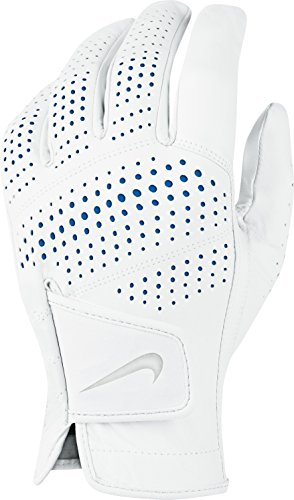 Nike Tour Classic II Golf Gloves 2016 Regular White/Grey/Blue Fit to Left Hand Small