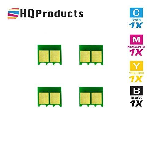 HQ Products Compatible Replacement HP 124A (Q6000A, Q6001A, Q6002A, Q6003A) Bk, C, Y, M Chips Color Set.