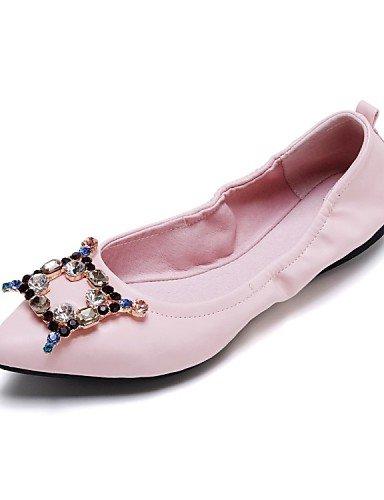 carrera oficina tarde y al pink vestido 5 uk4 y comodidad Pisos cn37 eu37 zapatos talón mujer Toe de aire PDX piel Fiesta señaló us6 plano 7 de 5 libre 5 PqHaUwH61