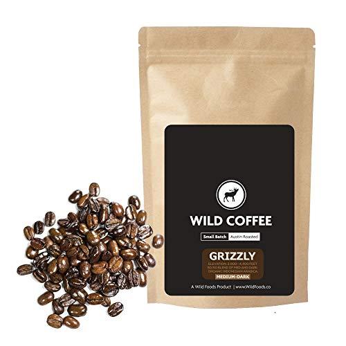 Wild Coffee, Organic Austin Roasted Small-Batch Whole Bean, 100% Arabica, Fair Trade, Single-Origin, Low Acid, Grade 1 (Sidamo Medium, 5 pound)
