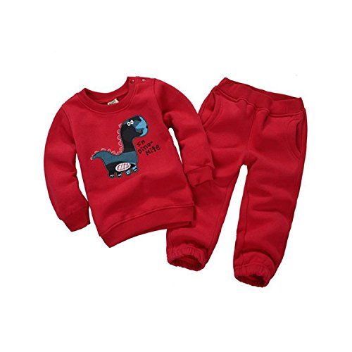 Girls Superhero Costumes Asda (ODFAPP Adorable 2016 Spring&Autumn Children Boy&Girl Clothing Set Baby Girls Casual Sports Animal Pattern Costume Kids Clothing Set Suit 15-333 Red5T Cool)