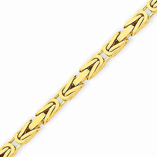 tine Chain Necklace with Lobster Clasp (2.4mm) - Yellow-Gold, 16 in (14k Yellow Gold Byzantine Chain)