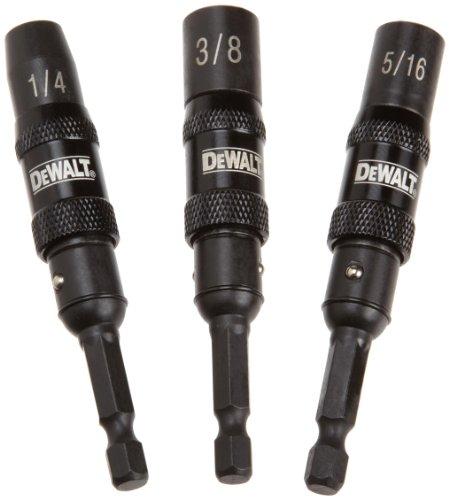 DEWALT DWPVTDRV3 3-Piece Impact-Ready Pivoting Nutsetters, 1/4-Inch, 3/8-Inch, - Driver Swivel Nut