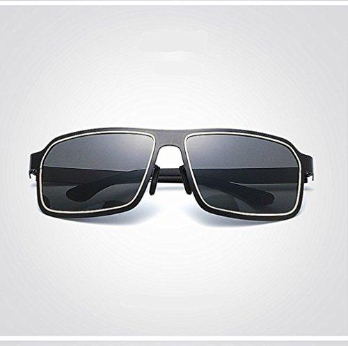 de Soleil Lunettes en noir Hommes YINGM Soleil pour or Polarisées Mode Cadre de Soleil de des conduisant Lunettes de Lunettes qzTFzwxvE