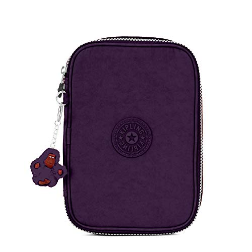 Kipling 100 Pens Case, Zip Closure, Interior Organization, Deep Purple