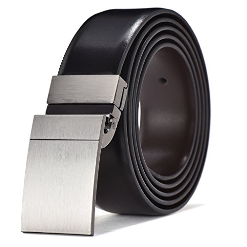 42' Leather Black Seat (Men's Dress Belt Leather Reversible Buckle with Gift Box (Waist 40''-42'', Style6))