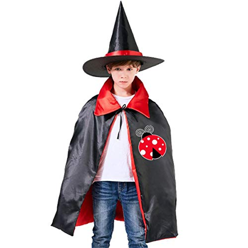 Halloween Children Costume Ladybug Lady Wizard Witch Cloak Cape Robe And Hat Set]()