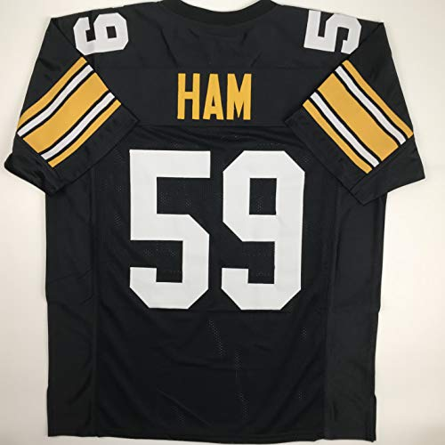cc82f813406 Unsigned Jack Ham Pittsburgh Black Custom Stitched Football Jersey Size  Men s XL New No Brands Logos