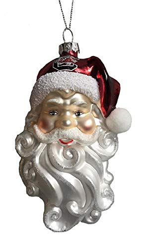 South Carolina Gamecocks Santa Claus Glass Hanging Ornament