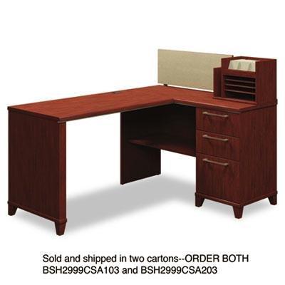 Bush - 60''W X 47''D Corner Desk Solution (Box 1 Of 2) Enterprise: Harvest Cherry ''Product Category: Office Furniture/Desks''