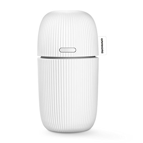 USB Car Diffuser Essential Oils Portable Vehicle-Mounted Cool Mist Aromatherapy Humidifier Ultrasonic Mini 110ml Purifier Small Air Freshener for Travel/Office/Study/Home, Birthday