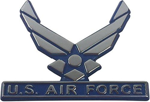 Elektroplate Air Force Metal Auto Emblem (Blue Trim) (Air Force Emblem)