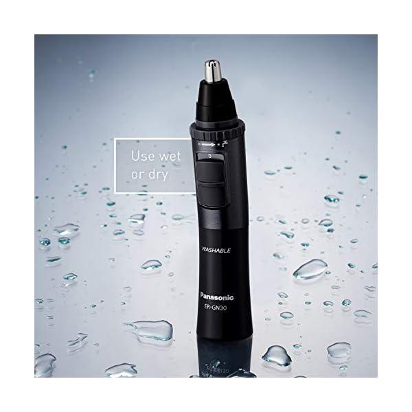 Panasonic Men's Ear and Nose Hair Trimmer, Wet Dry Hypoallergenic Dual Edge Blade - ER-GN30-H 6