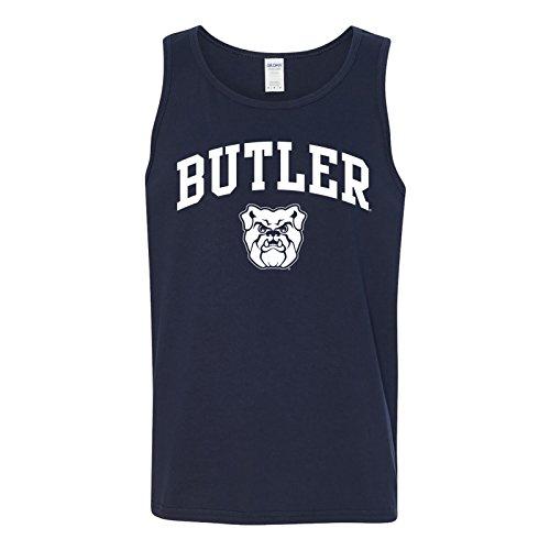 Purdue University Seal - AT03 - Butler Bulldogs Arch Logo Mens Tank Top - Large - Navy