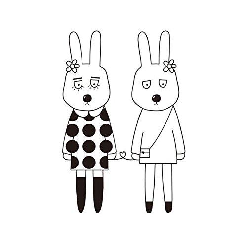 raybre arte dibujo animado conejo Couples perchero de las ...