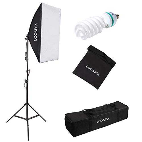 1350W Photography Lighting Softbox Lighting Kit Continuous Photo Video Lighting System with Sandbag and 5500K Bulb 20